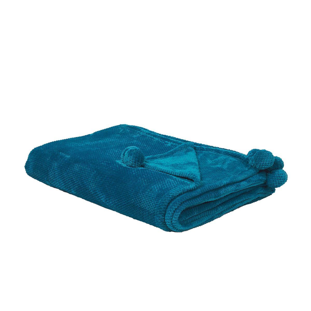 Beliani Beliani Plaid bleu turquoise 200 x 220 cm SAITLER - turquoise