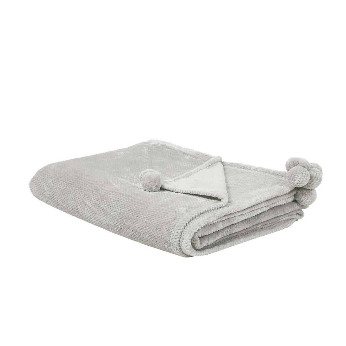 Beliani Beliani Plaid gris clair 200 x 220 cm SAITLER - gris clair