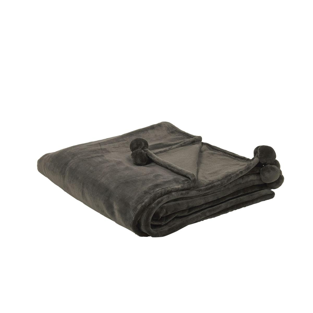 Beliani Beliani Plaid gris foncé 200 x 220 cm TERKE - gris foncé