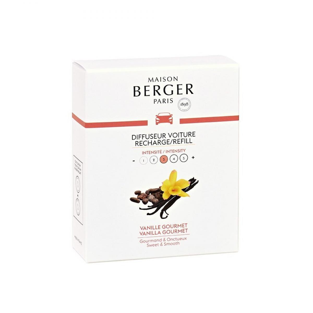 Berger Recharges pour diffuseur de voiture vanille gourmet