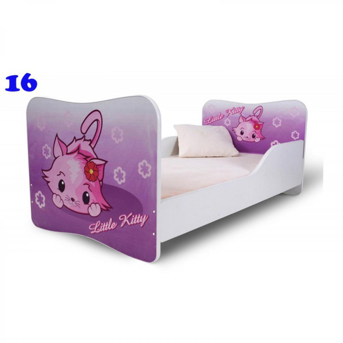 Bim Furniture Lit Enfant 140x70 cm Little Kitty avec sommier et matelas