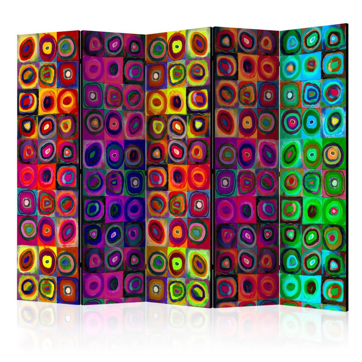 Bimago Paravent 5 volets - Colorful Abstract Art II [Room Dividers] - Décoration, image, art | 225x172 cm | XL - Grand Format |