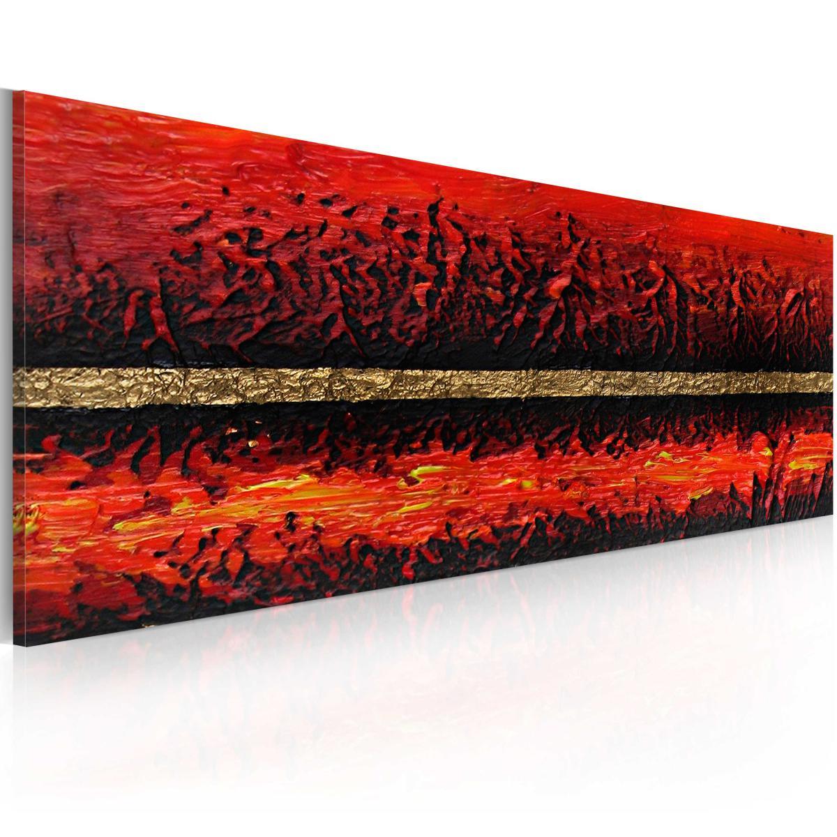 Bimago Tableau peint à la main | Eruption volcanique | 100x40 | |