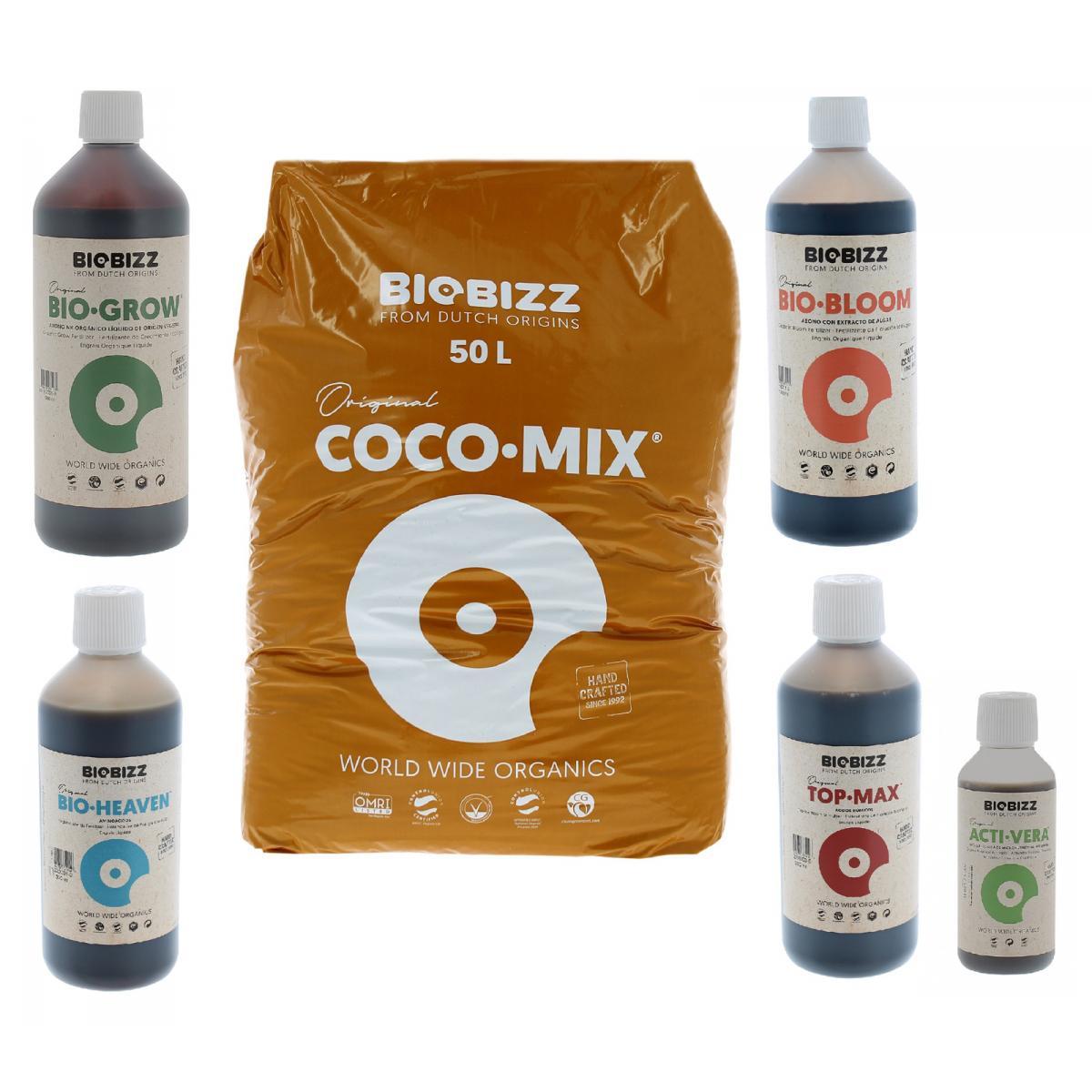 Biobizz Pack Coco-Mix 50 litres BIOBIZZ + engrais et stimulants