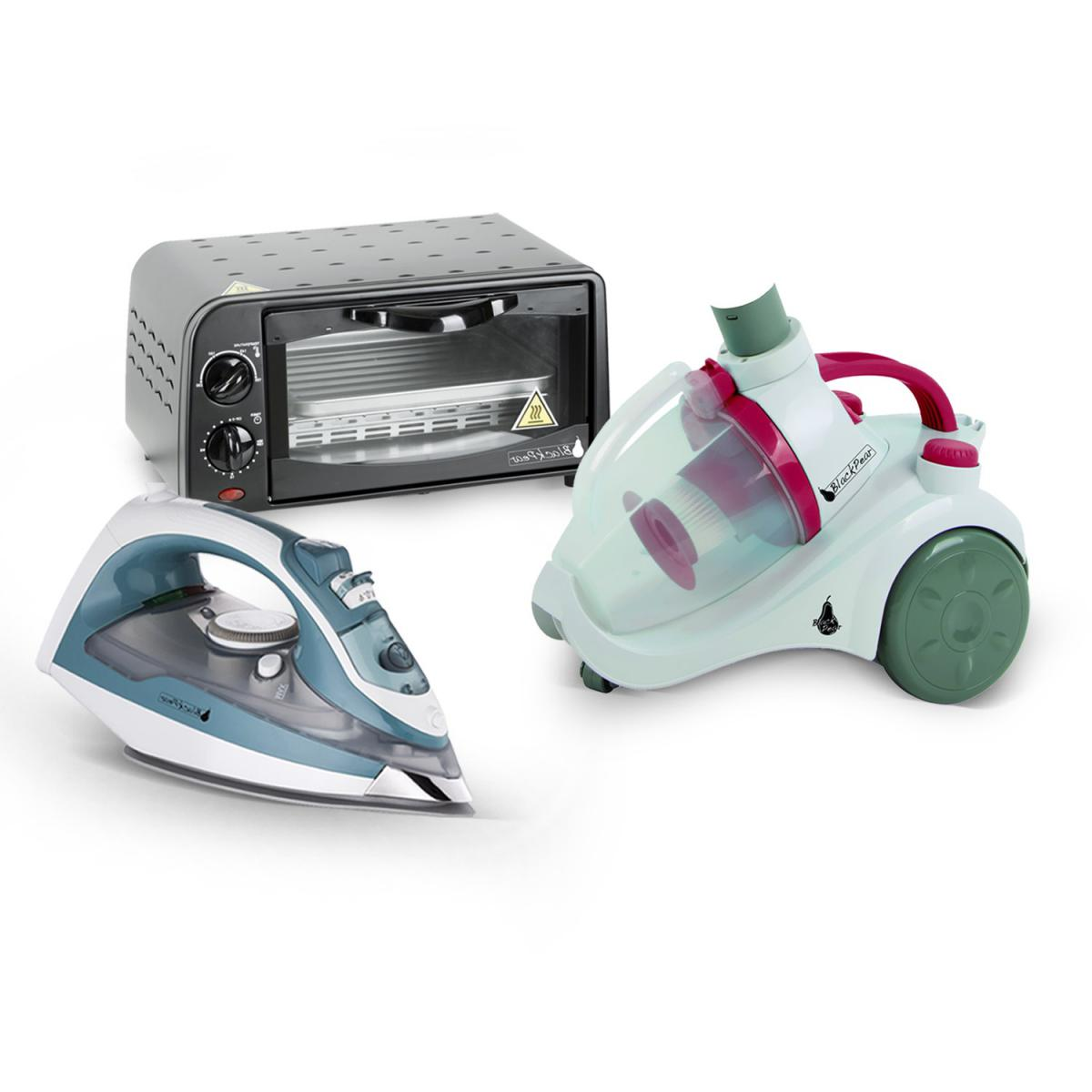 Blackpear Four electrique 9L + Aspirateur sans sac 700W + Fer à repasser 1800W