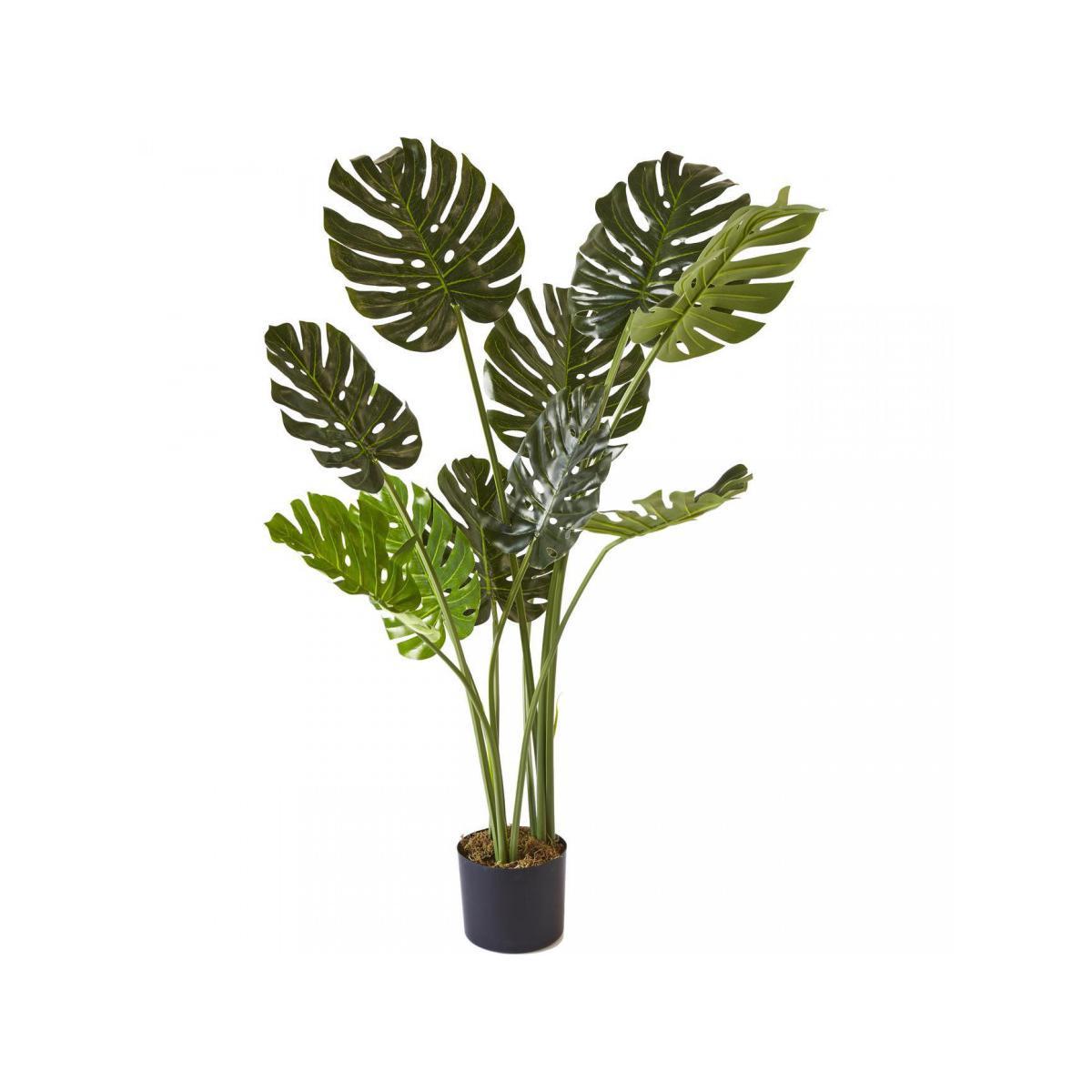 Bobochic BOBOCHIC Plante artificielle OLLA 10 feuilles et pot noir