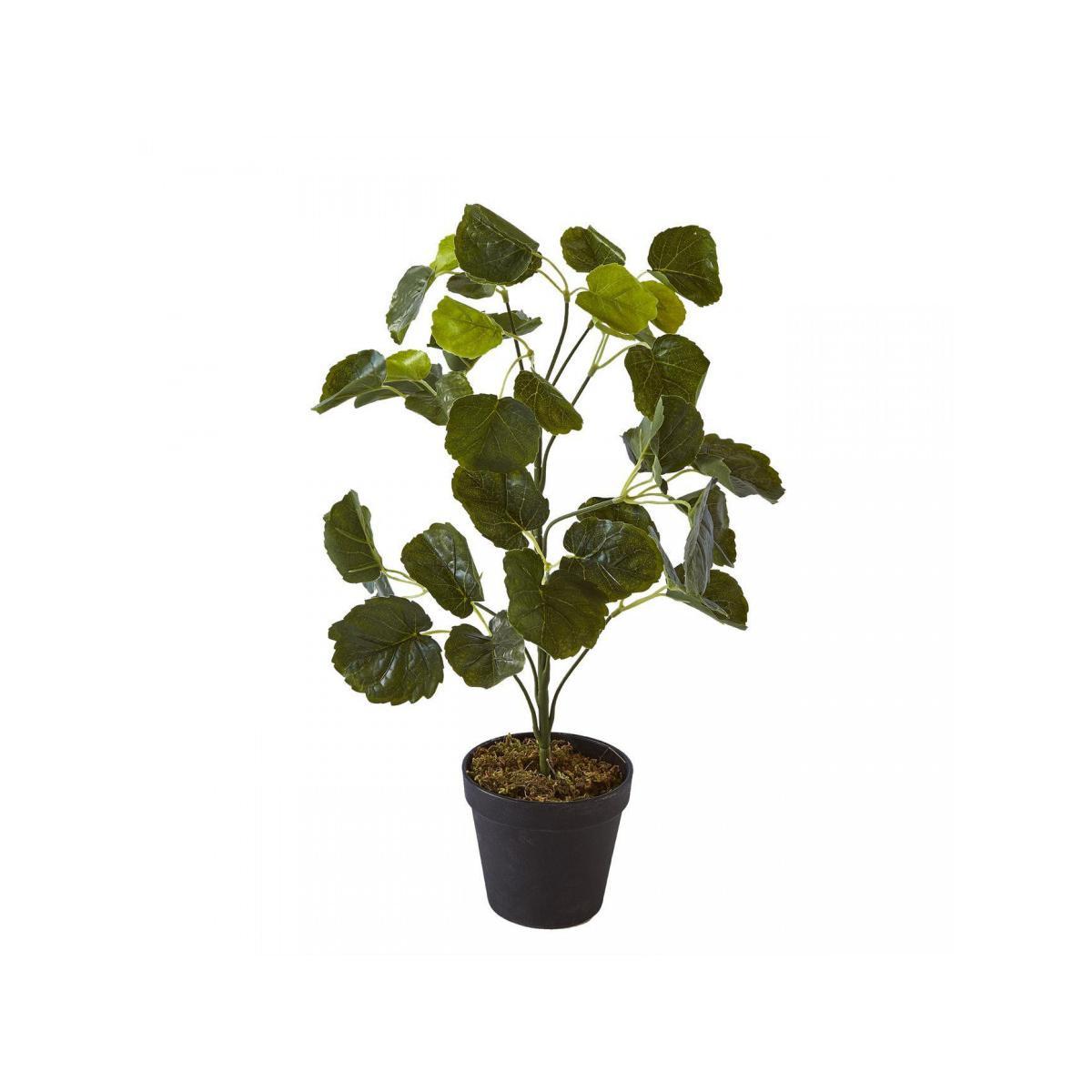 Bobochic BOBOCHIC Plante artificielle OLLA 42 feuilles et pot noir