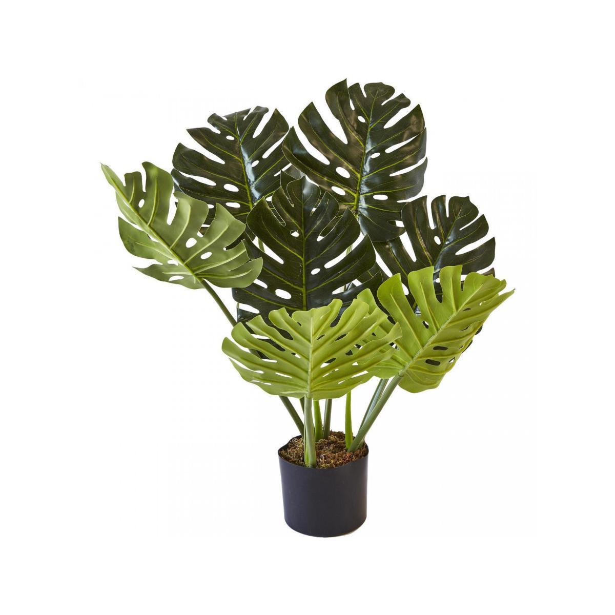 Bobochic BOBOCHIC Plante artificielle OLLA 7 feuilles et pot noir