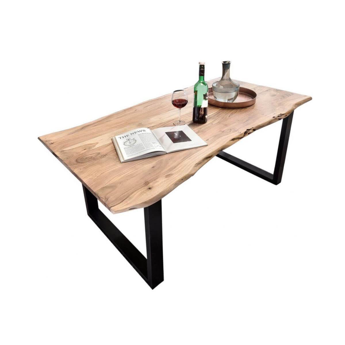 Bobochic BOBOCHIC Table 140 x 80 cm GIULIA bois massif clair