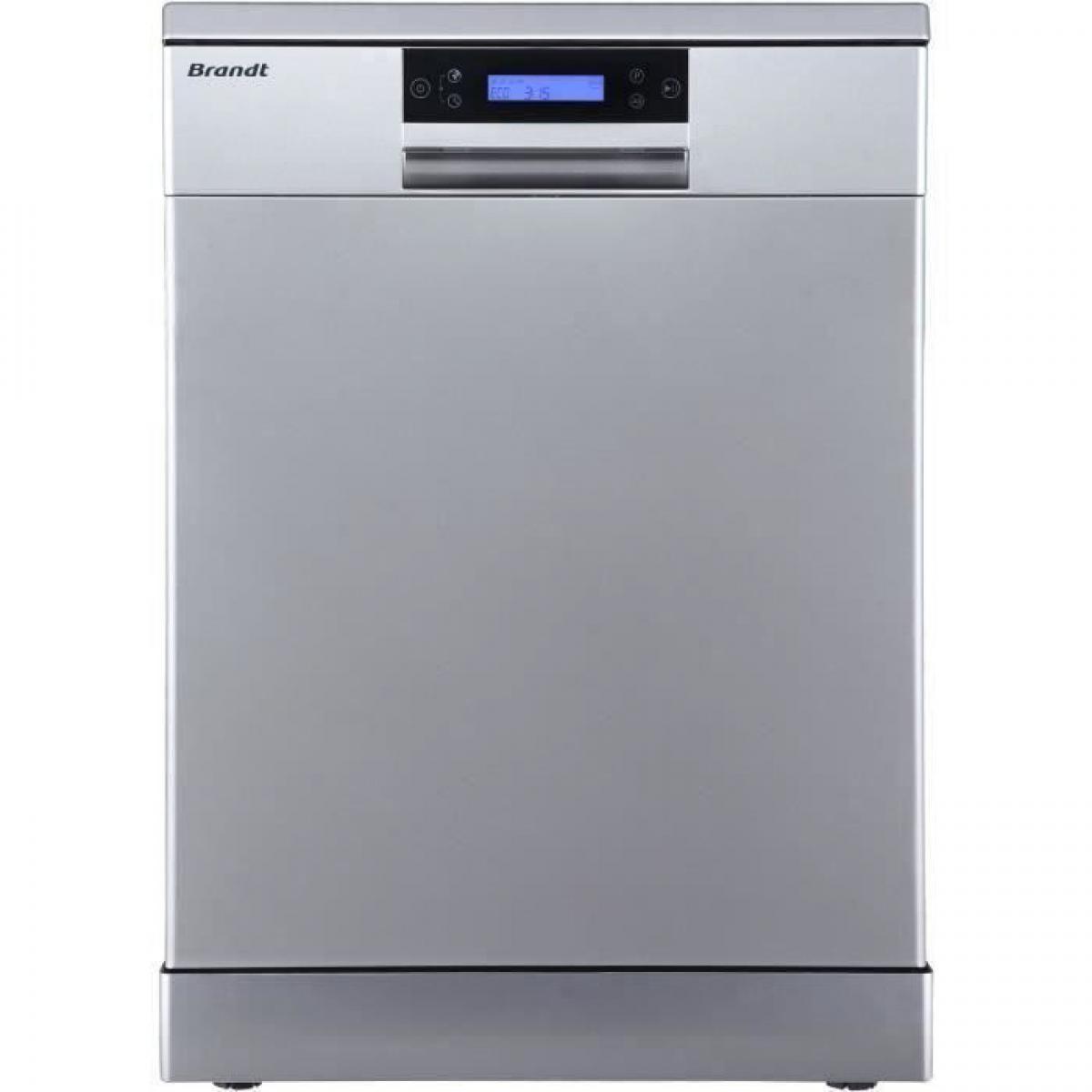 Brandt Lave-vaisselle pose libre BRANDT LVC144IX - 14 couverts - Moteur inverter - 44 dB - Inox