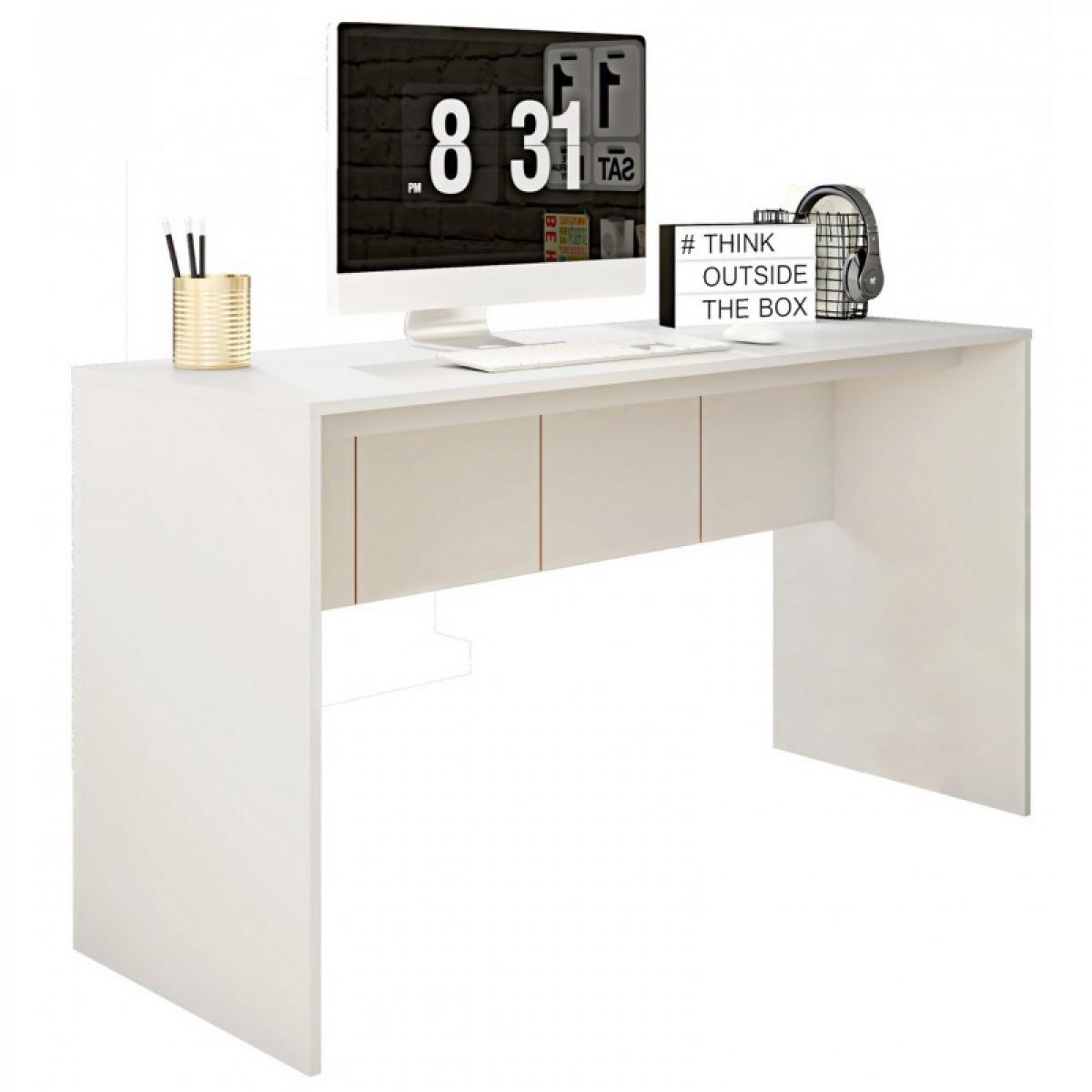 Caemmum Bureau Blanc Mat 136 cm