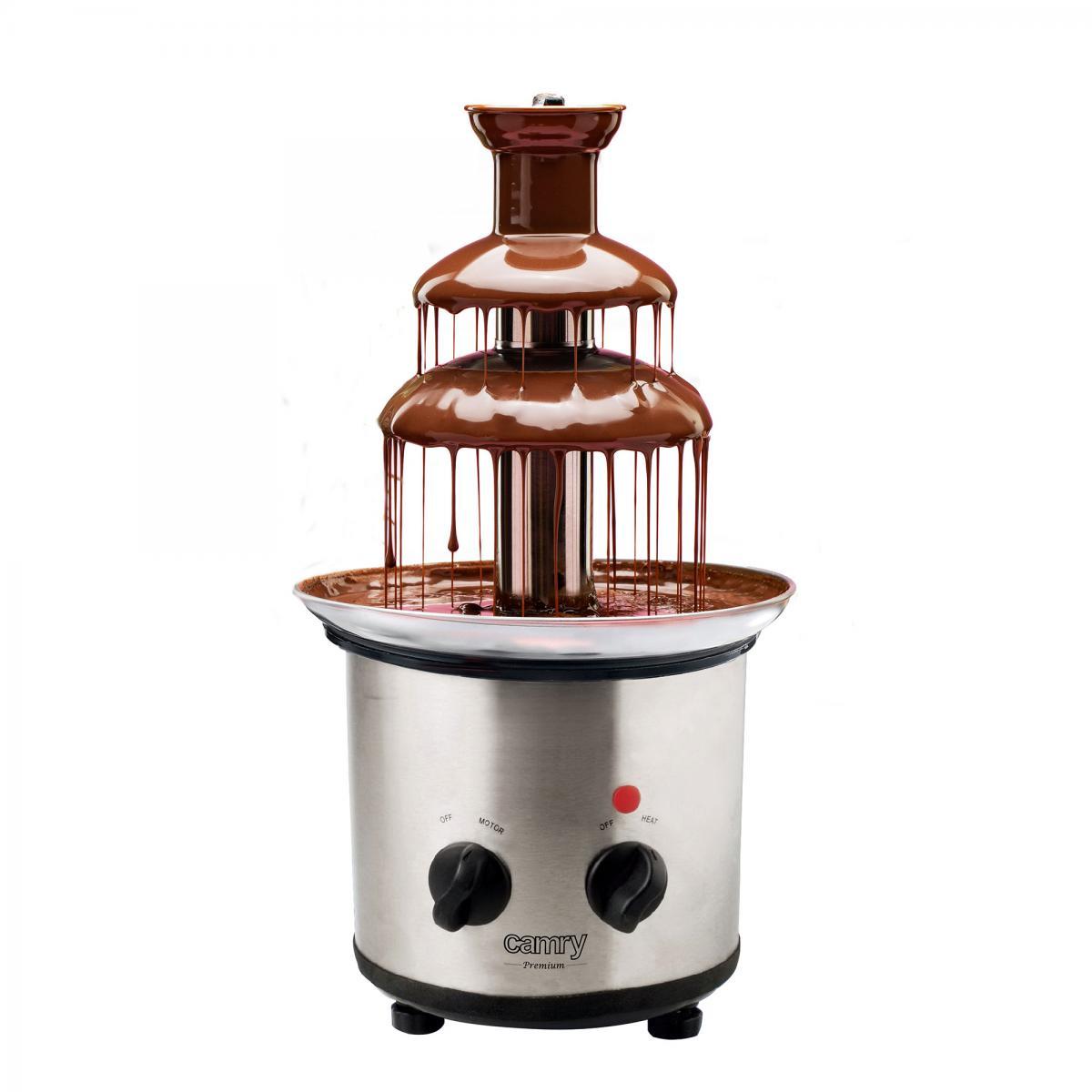 Camry Fontaine à Chocolat Électrique , Acier Inoxydable, 650 ml, Température max. 60°C Camry CR4488