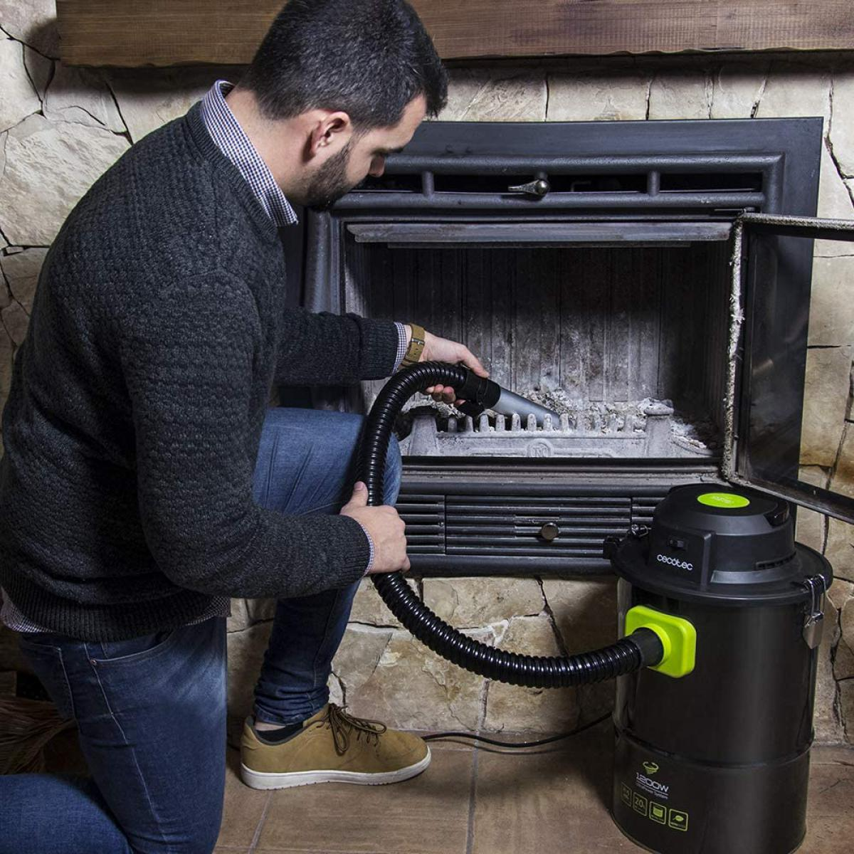 Cecotec aspirateur à cendres de 20L résistant 1200W vert noir