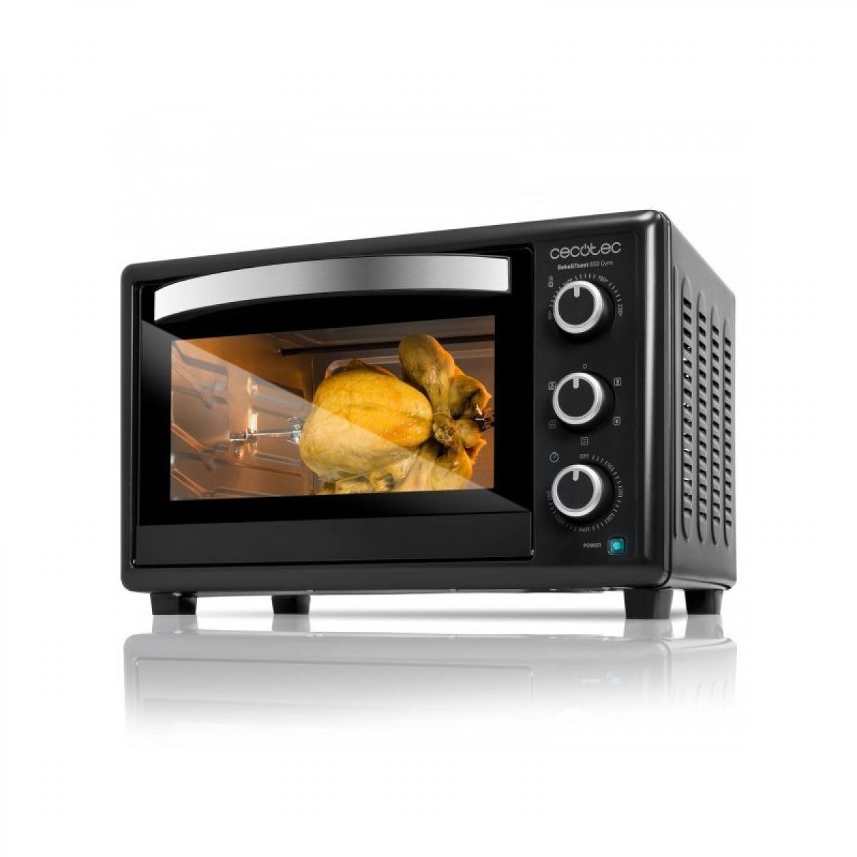 Cecotec Cecotec, Four à convection électrique multifonction, Bake & Toast 650 Gyro, Avec rustidor, Idéal pour les pizzas, Cuisin