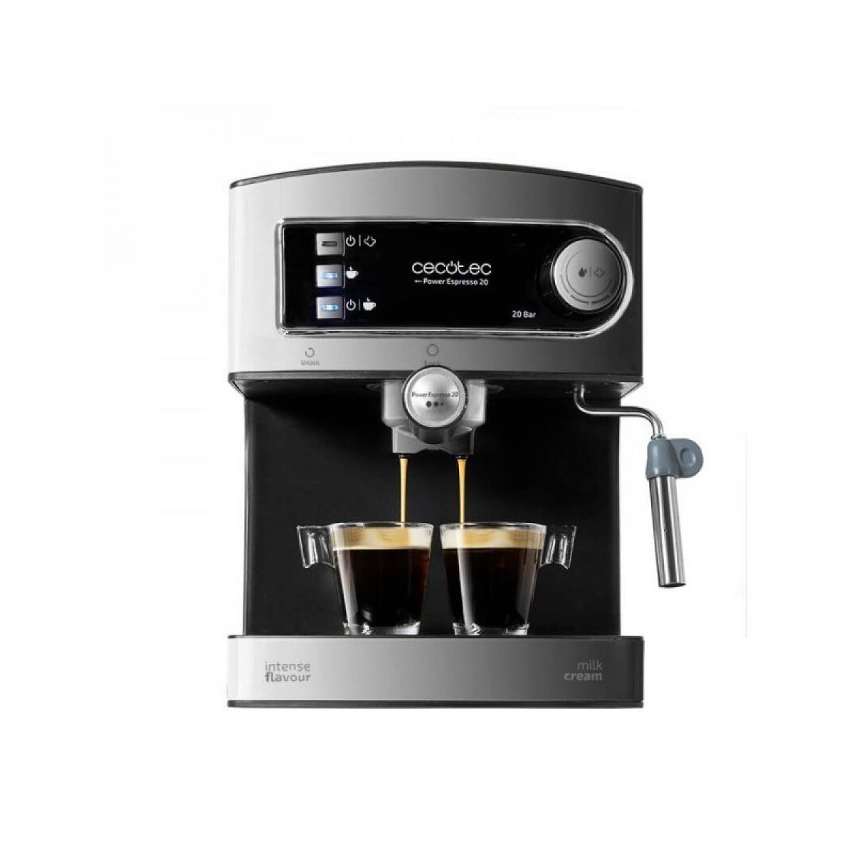 Cecotec Cecotec, Machine à café Expresso, Power Espresso 20, 20 bars de Pression , Réservoir d?1.5 L, Bras Double Sortie, Buse v