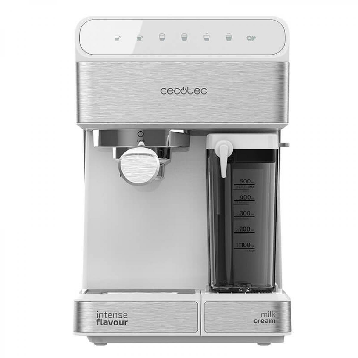 Cecotec Cecotec, Machine à café Semiautomatique Power Instantccino 20 Touch Serie Bianca, 20 bars de Pression, 1,4 L, 6 Fonction