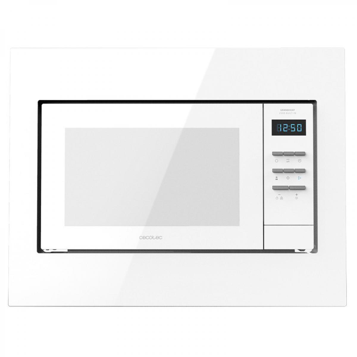 Cecotec Cecotec, Micro-ondes Encastrable numérique, Grandheat 2300 Built-In White, 23 litres, 800 W, Grill, 5 niveaux, 8 Fonctio
