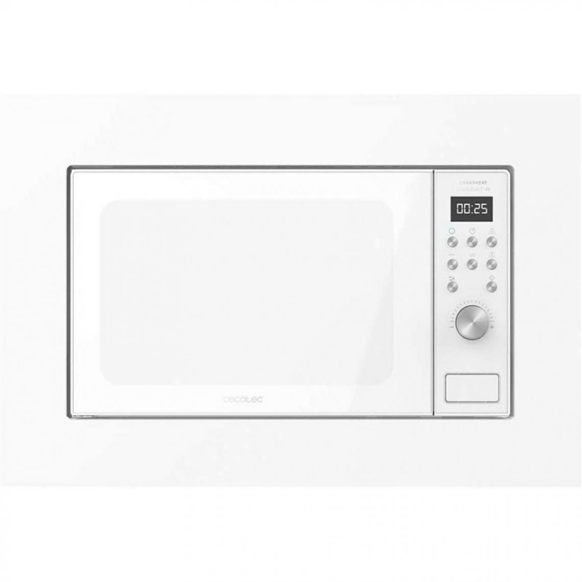 Cecotec Cecotec, Micro-ondes Intégré Numérique, GrandHeat 2000 Built-In White, 700W, 20 L, Gril avec 900W, 9 Fonctions