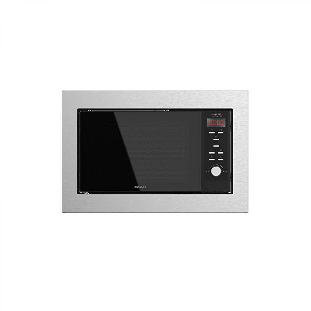 Cecotec Cecotec, Micro-ondes intégré, numérique, GrandHeat 2350 Built in Steel black, avec 23 L de capacité, gril et 900 W de pu