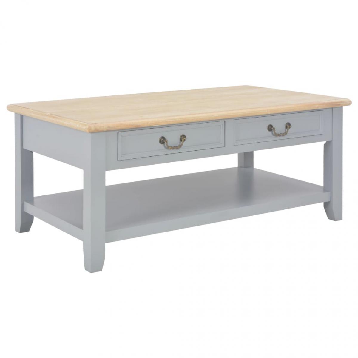 Chunhelife Table basse Gris 100 x 55 x 40 cm Bois