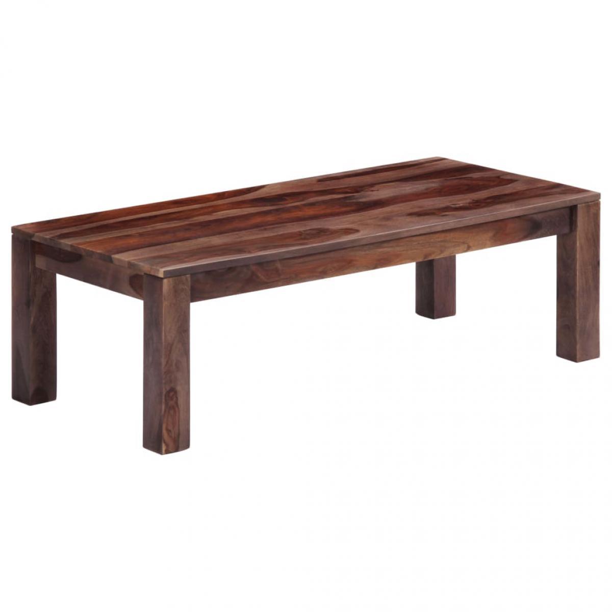 Chunhelife Table basse Gris 110 x 50 x 35 cm Bois de Sesham massif