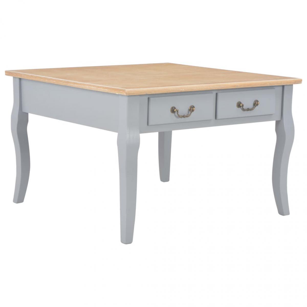 Chunhelife Table basse Gris 80 x 80 x 50 cm Bois