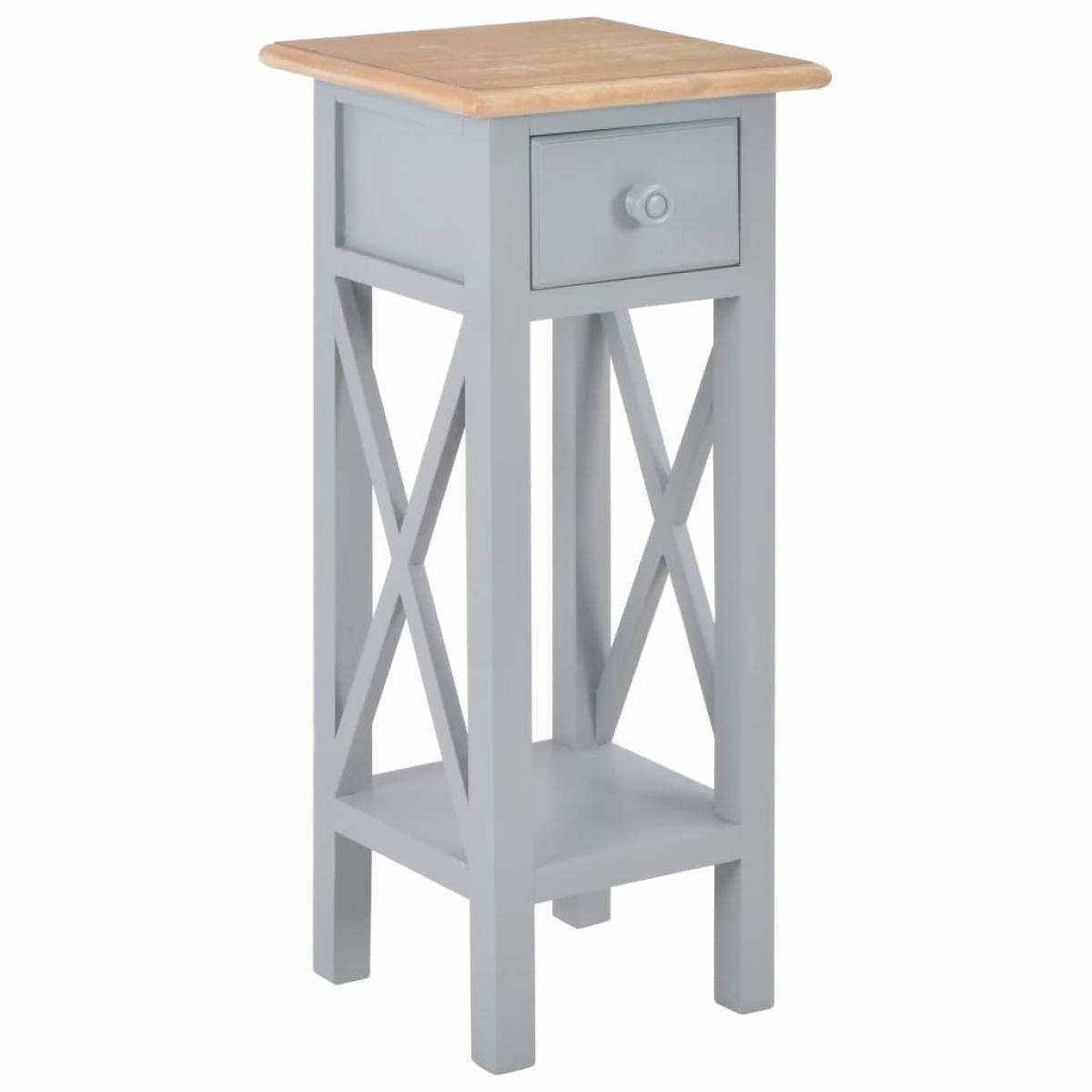 Chunhelife Table d'appoint Gris 27 x 27 x 65,5 cm Bois