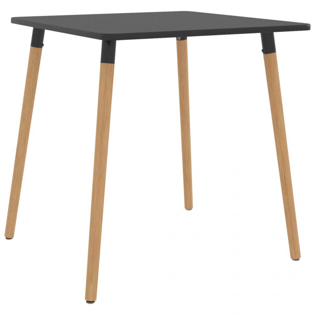 Chunhelife Table de salle à manger Gris 80x80x75 cm Métal