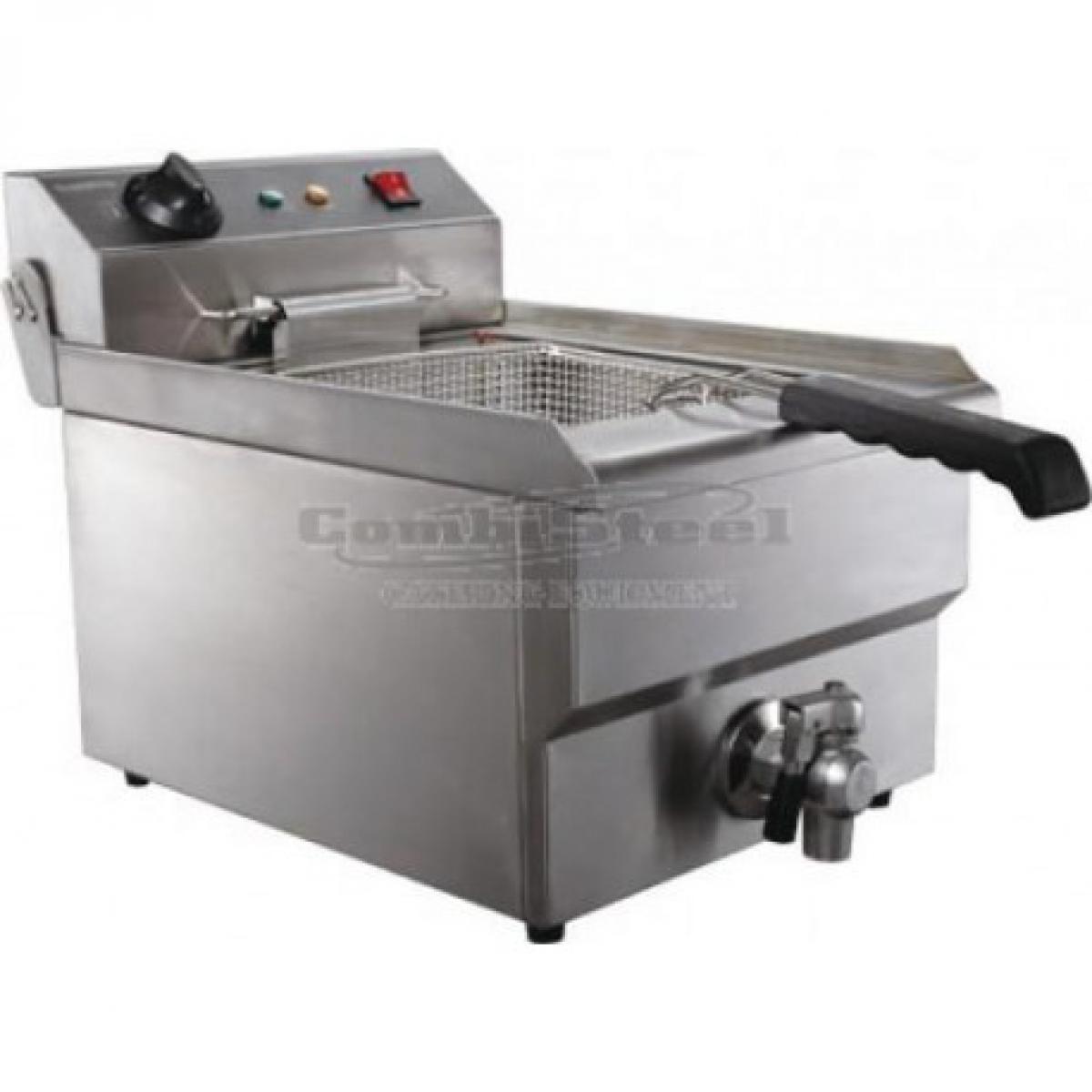 Combisteel Friteuse électrique pro - 8 litres avec robinet de vidange - Combisteel -
