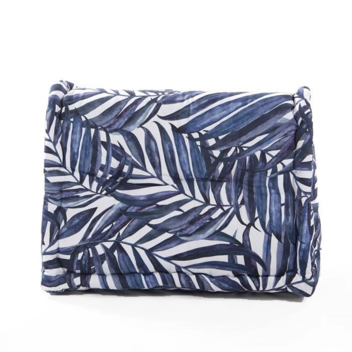 Cotton Wood COTTON WOOD Cale-rein coton imprimé - H45 x 60 x 22/11 cm - Blue Palm