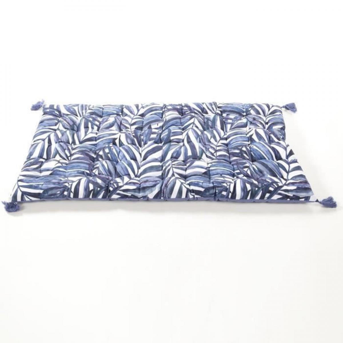 Cotton Wood COTTON WOOD Matelas de sol souple coton imprimé - 60 x 120 x 5 cm - Blue Palm