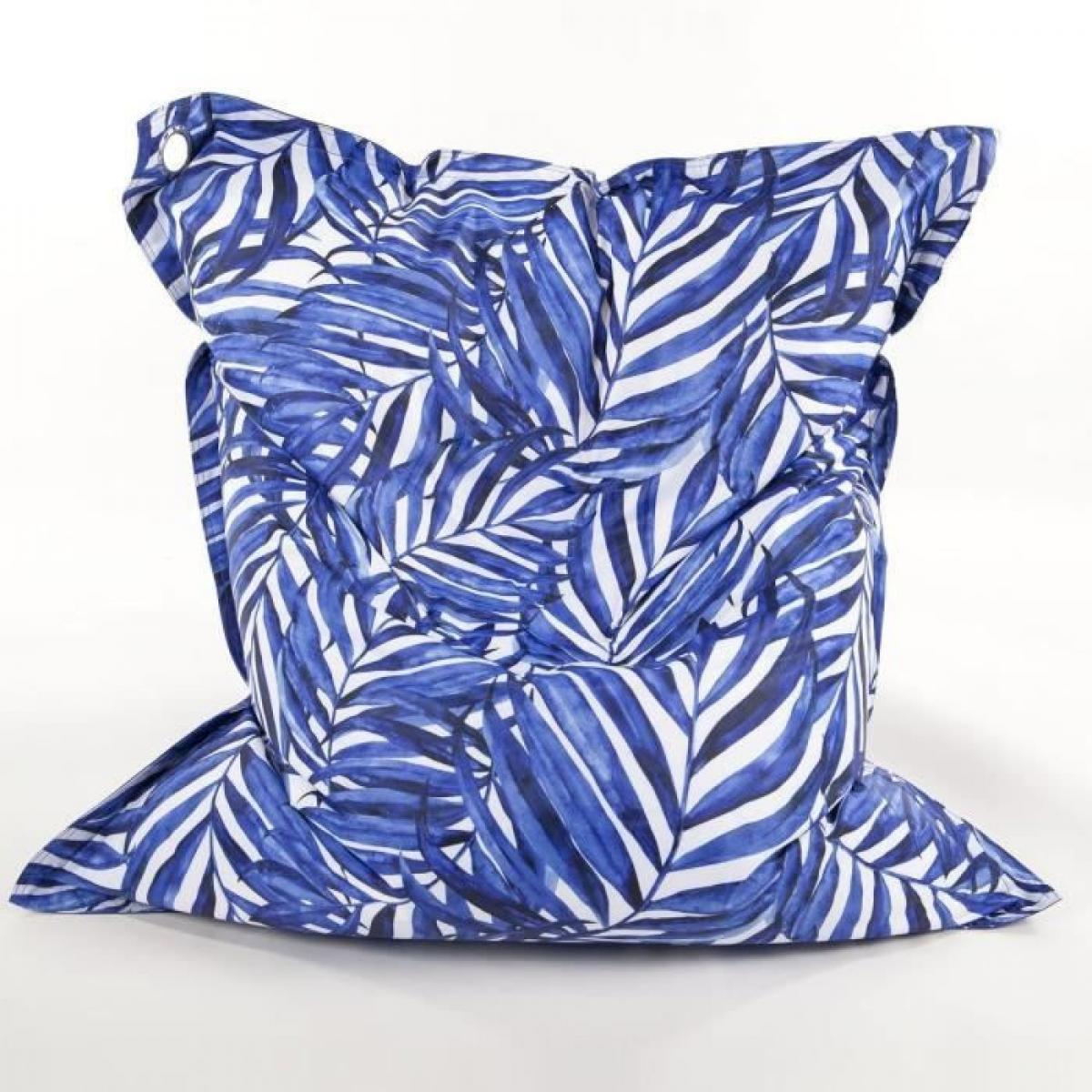 Cotton Wood COTTON WOOD Maxi Coussin imprime - 110 x 130 cm - Blue Palm
