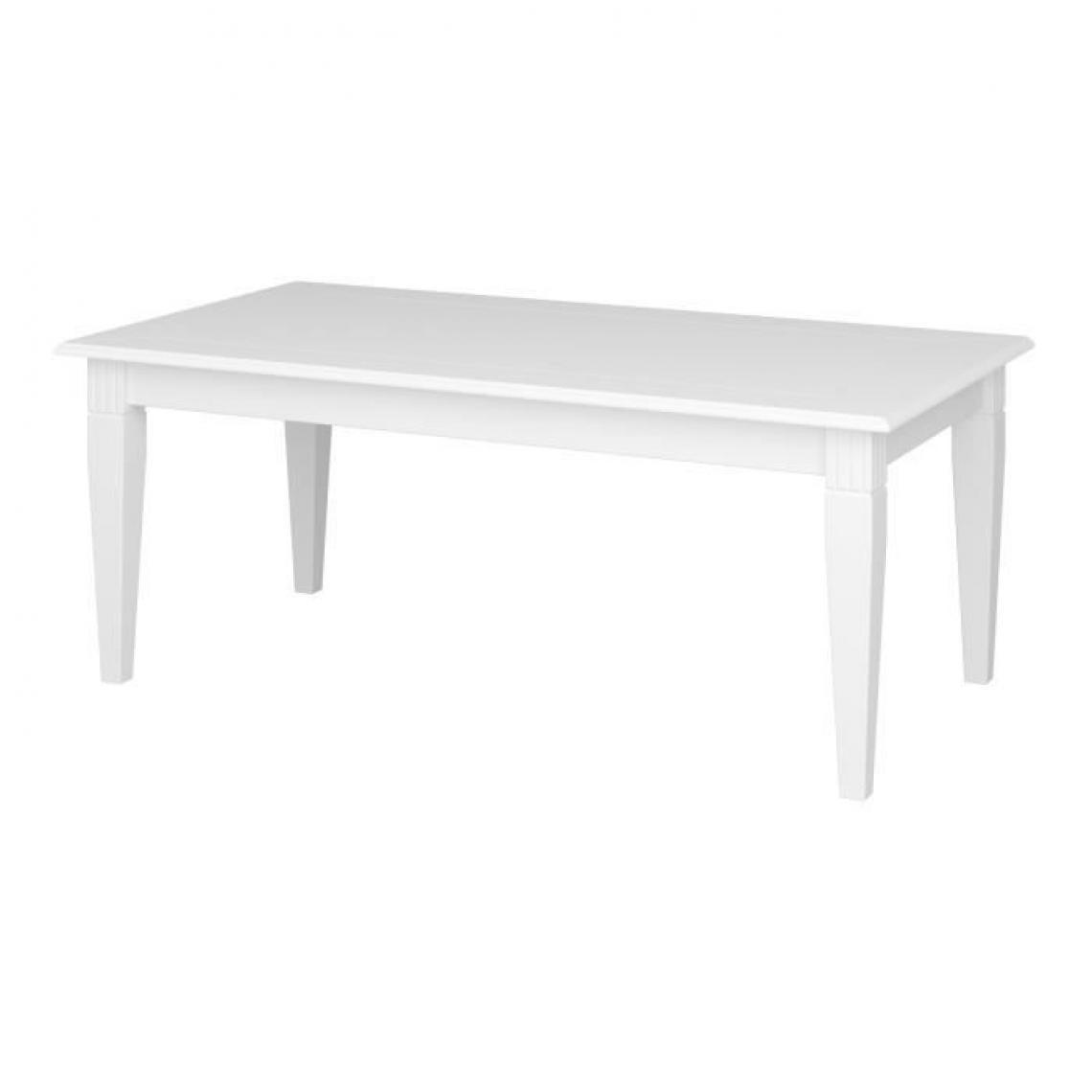 Cstore Table basse - Laqué blanc - MDF - L 130 x P 70 x H 51,3 cm
