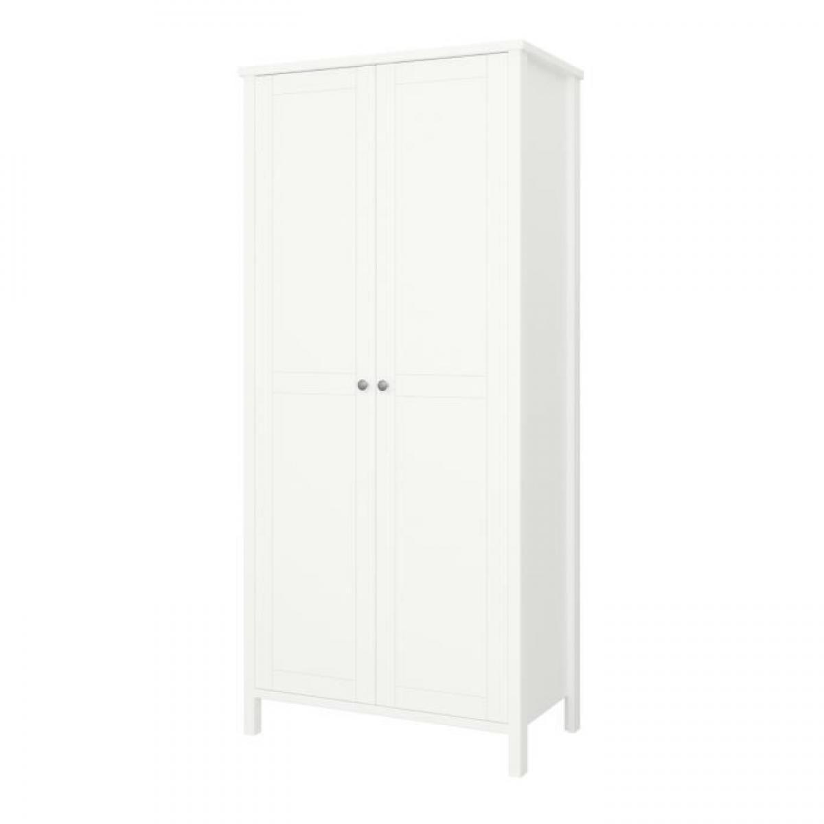 Cstore TROMSÖ Armoire 2 portes - Laqué blanc MDF
