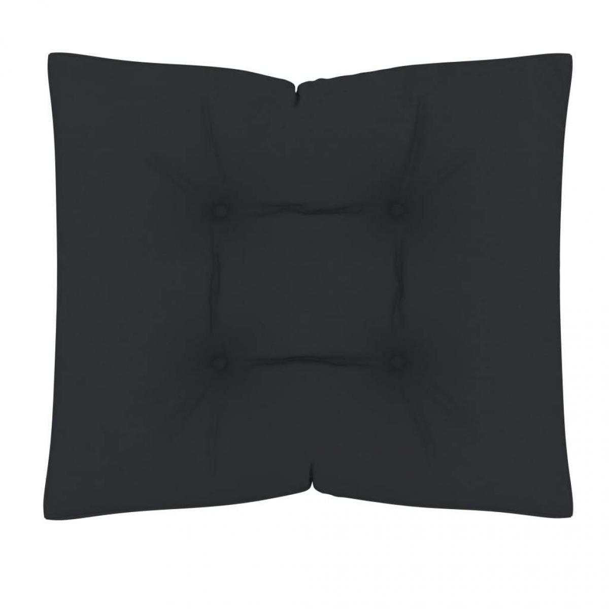 Decoshop26 Coussin de plancher de palette sol 60x61x10 cm Anthracite DEC021595