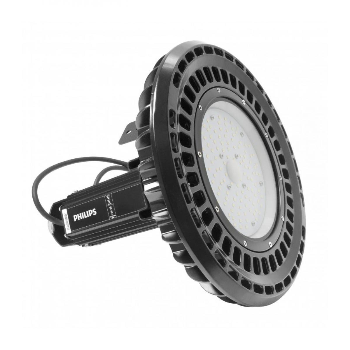 Delitech Blanc Neutre - Cloche LED UFO / suspension industrielle - 100 W - Full Philips - ALTHAE - DeliTech® - Usiné en France
