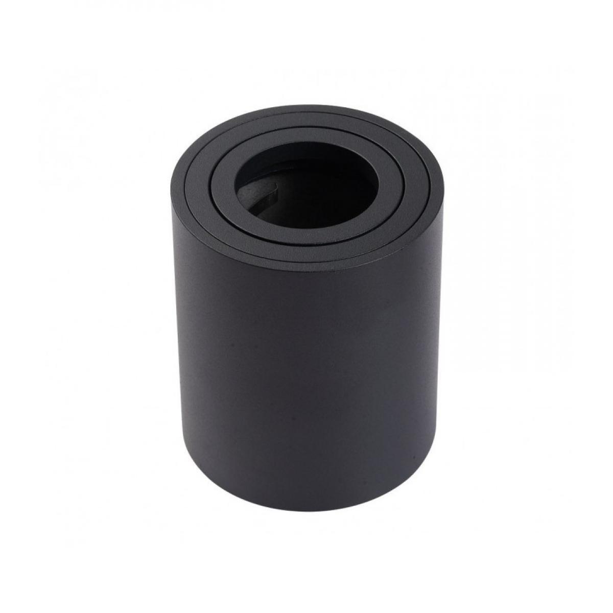 Delitech Support saillie GU10 / MR16 Orientable - Rond - Noir mat