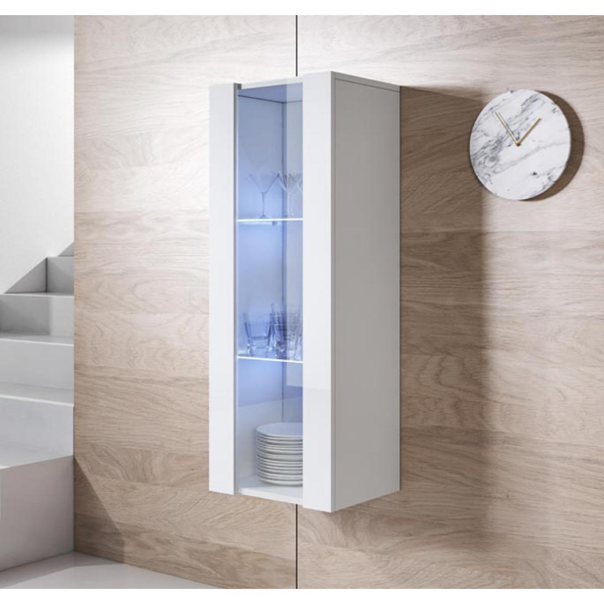 Design Ameublement Armoire mural modèle Luke V2 (40x126cm) couleur blanc