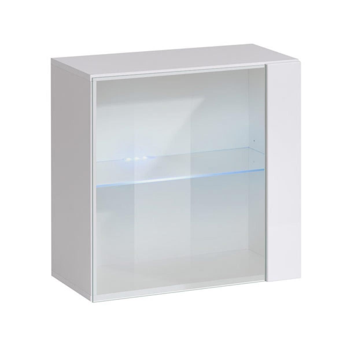 Design Ameublement Armoire murale modèle Berit 60x60 couleur blanc avec LED