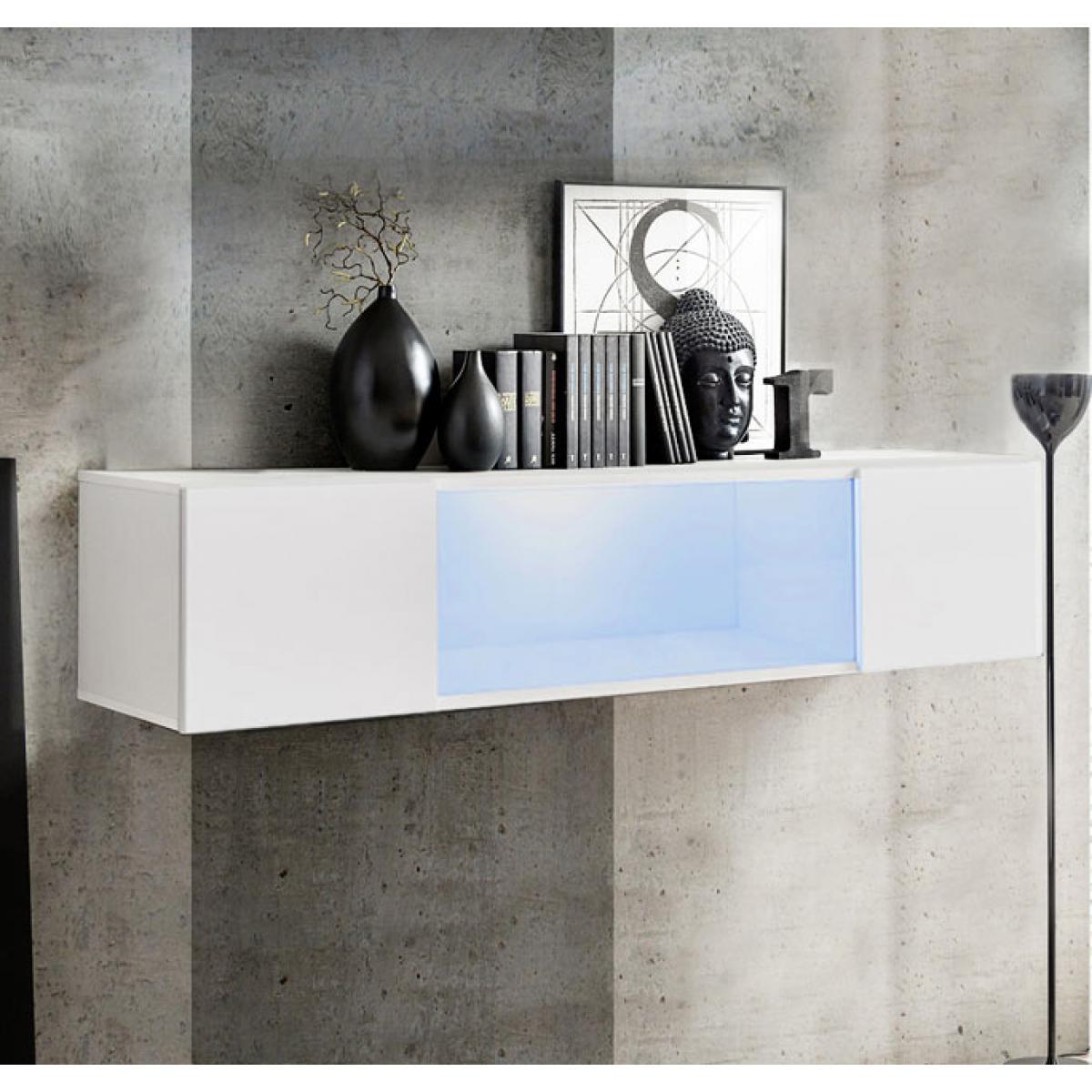 Design Ameublement Armoire murale modèle Krista H160CC (160x30cm) blanc