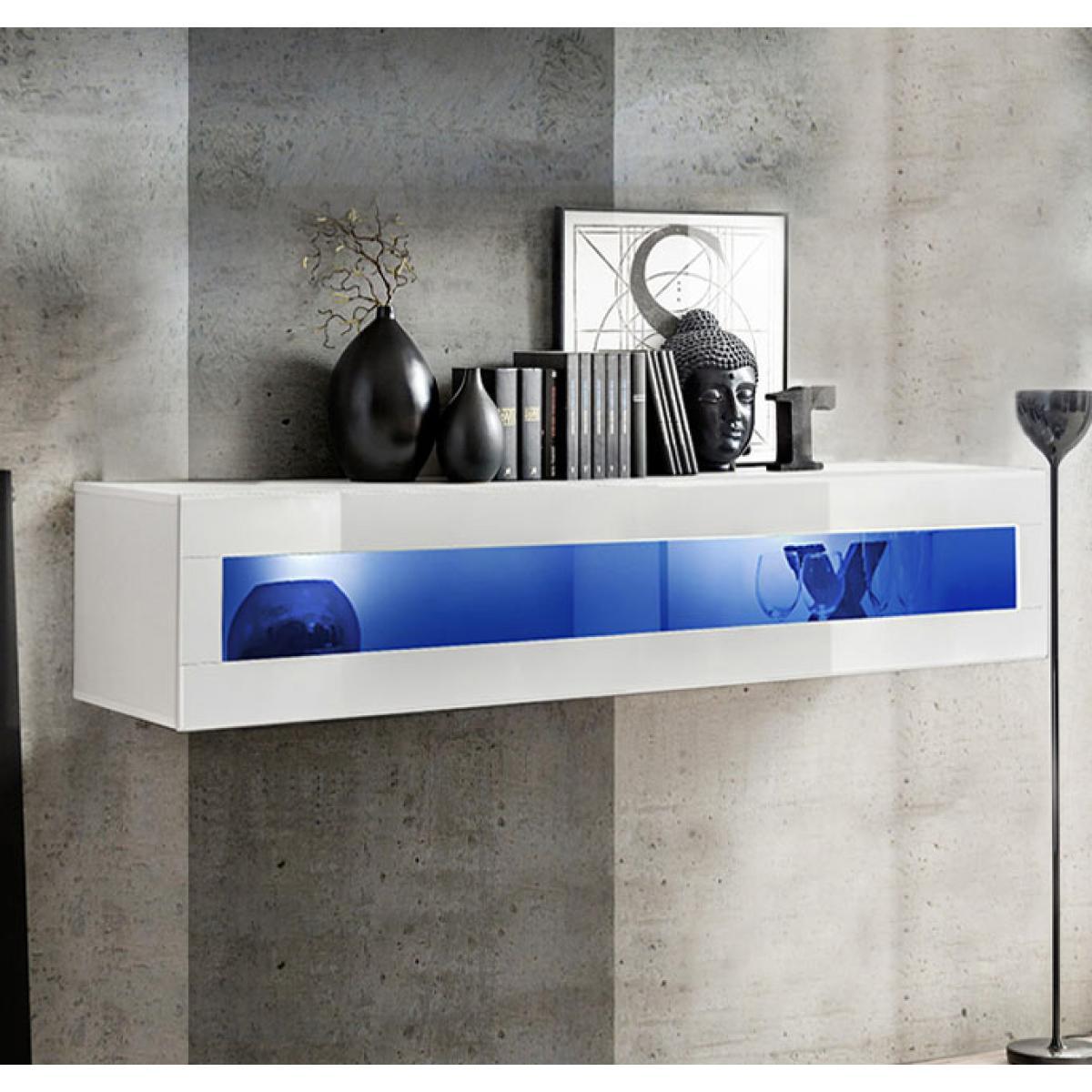 Design Ameublement Armoire murale modèle Krista H160CR (160x30cm) blanc