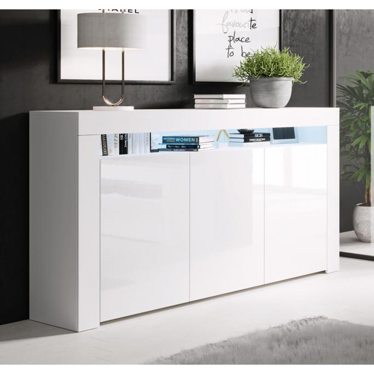 Design Ameublement Bahut modèle Aker couleur blanc