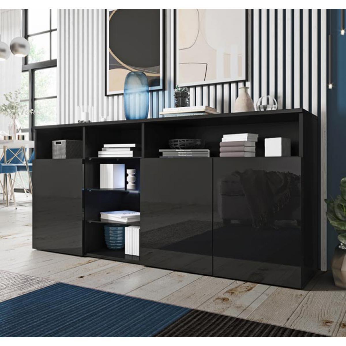 Design Ameublement Bahut modèle Clark couleur noir