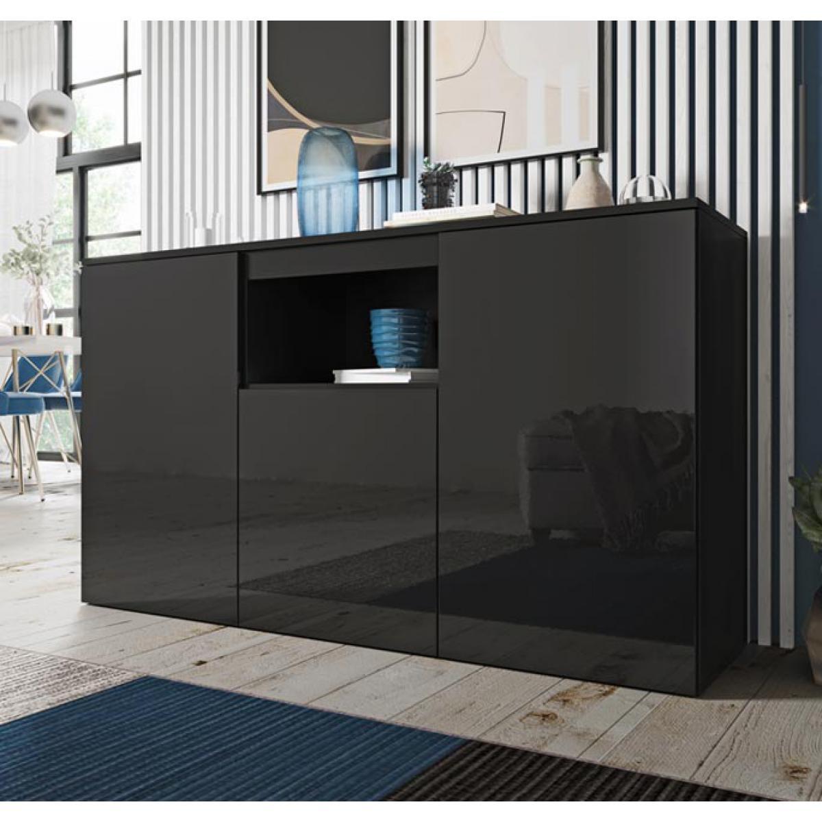 Design Ameublement Bahut modèle Nevada couleur noir