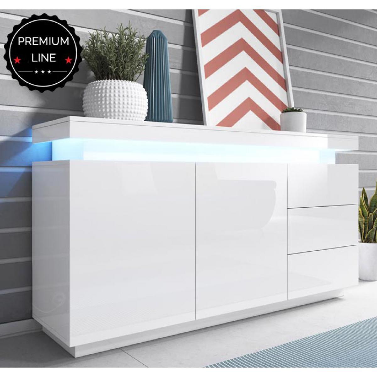 Design Ameublement Bahut modèle Osim couleur blanc