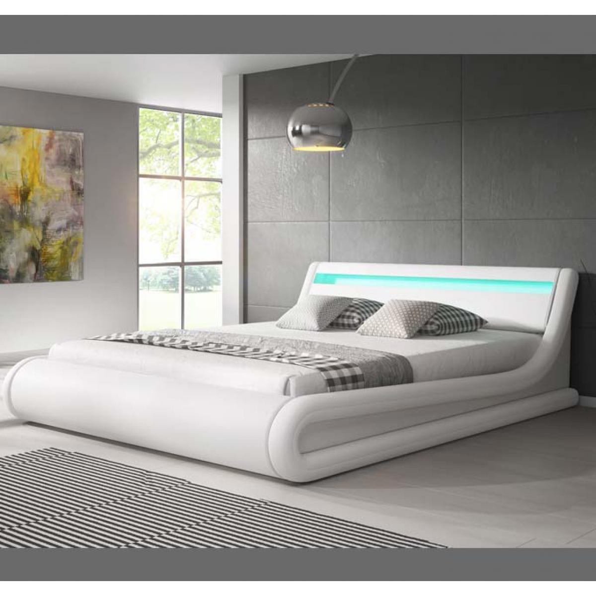 Design Ameublement Lit coffre design Parisina ? blanc (140x190cm)