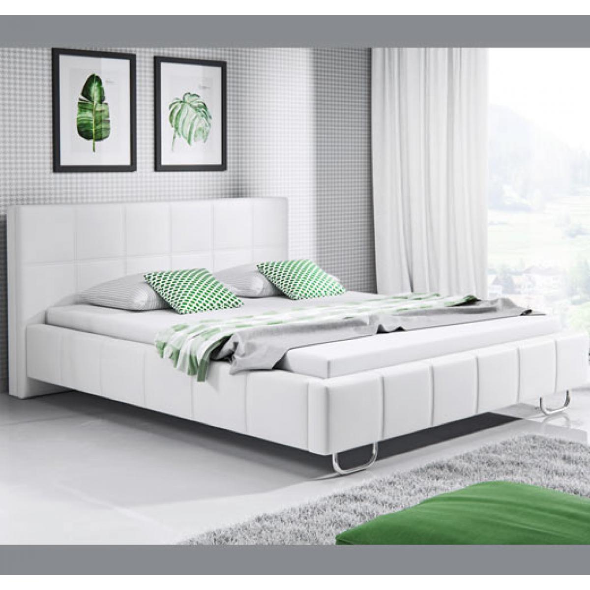 Design Ameublement Lit design Sofía ? blanc (140x190cm)