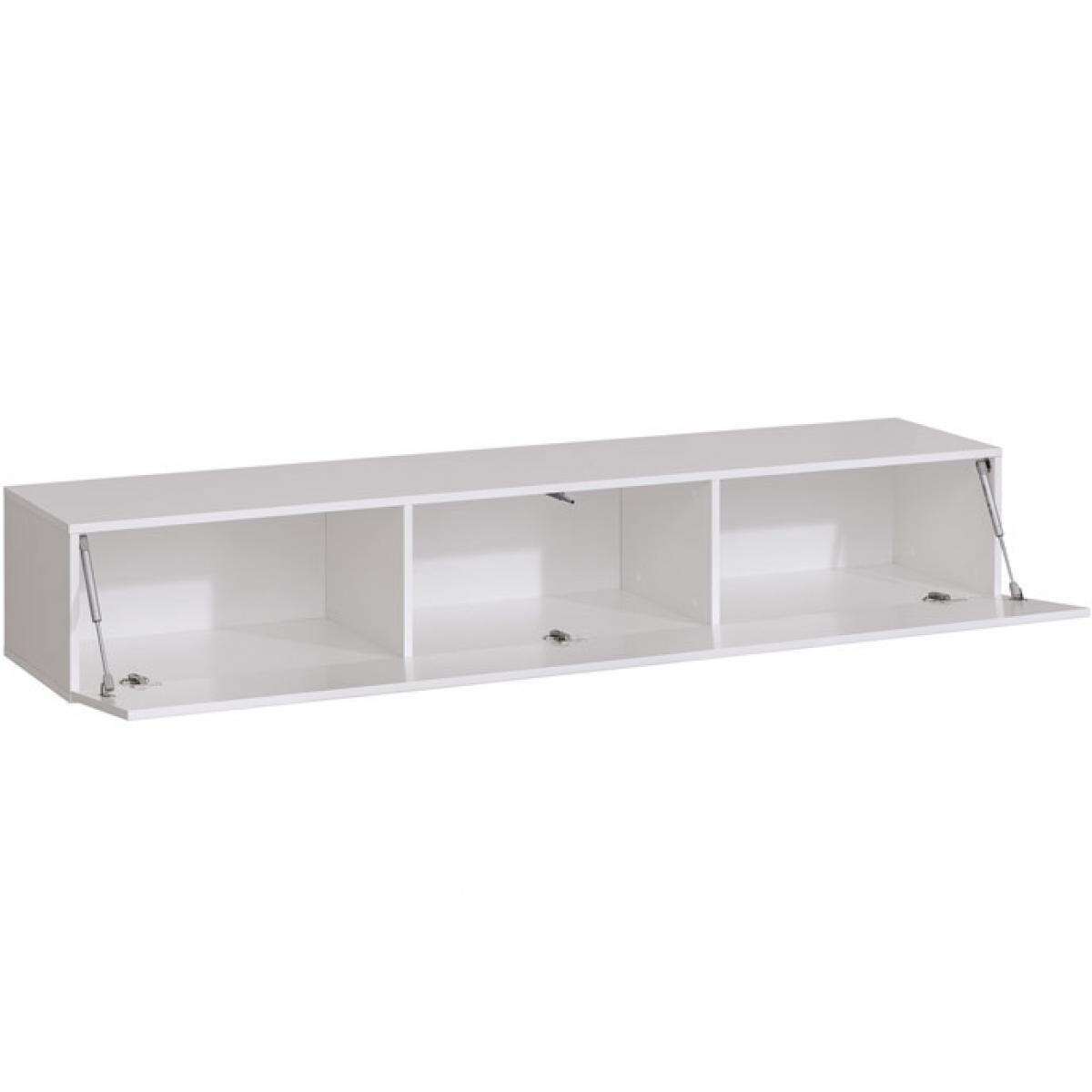 Design Ameublement Meuble TV modèle Berit 180x30 couleur blanc