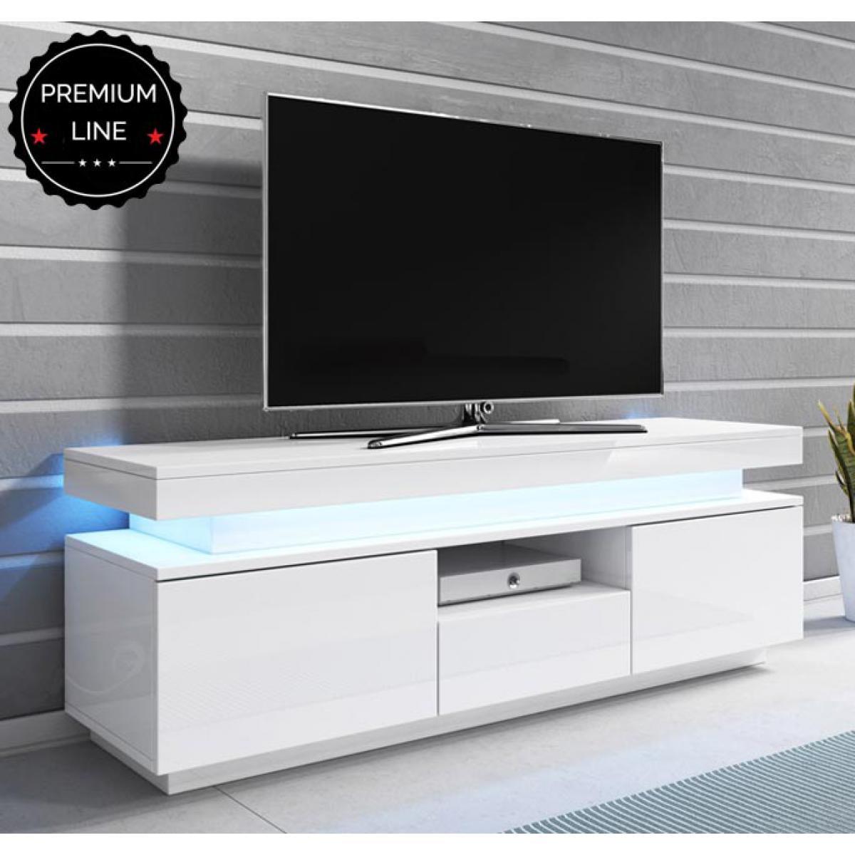 Design Ameublement Meuble TV modèle Persis (130cm) blanc