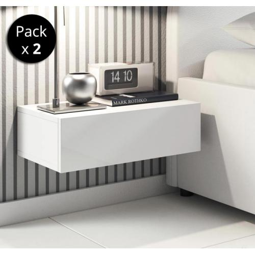 Design Ameublement - Pack de 2 tables de chevet Europa couleur blanc - Chevet